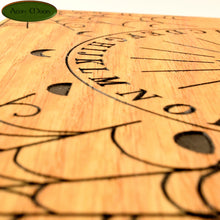 "8"" Oak Pendulum Board - Hand Crafted (OB1) - Aeon Moon"