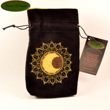 Sun and Moon - All Natural Cotton Velvet and Silk Tarot, Oracle, or Crystal bag - Aeon Moon