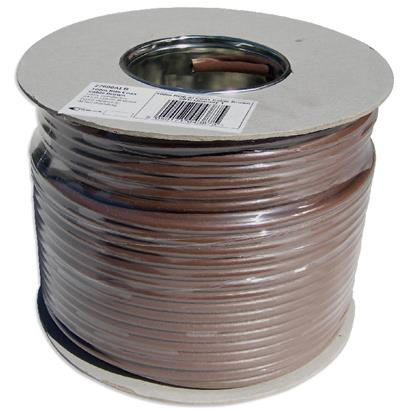 100m Brown Aerial/Satellite Cable RG6