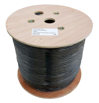 External CAT6 UTP 23AWG PE Solid CU 250m Black