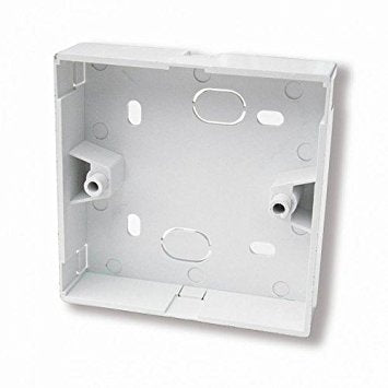 23mm Single Gang Surface Mount Backbox