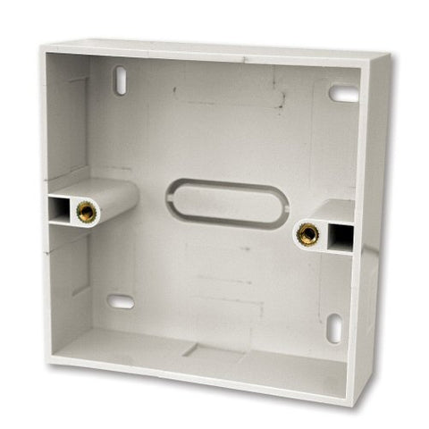 47mm Single Gang Surface Mount Back box - 47mm Deep Single Back Box - White