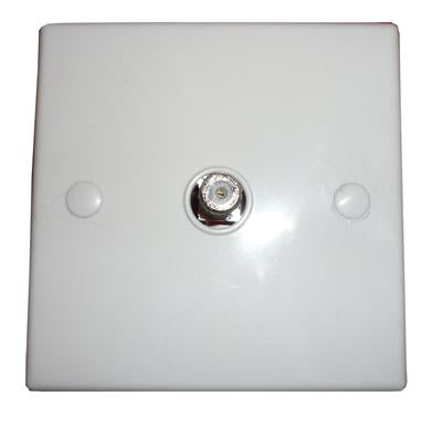 Single 'F' Coupler Wall Plate (Screw type)