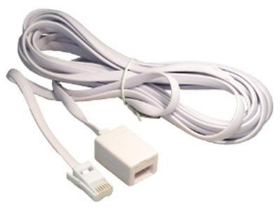 Chargeline Telephone Extension Lead 2m,3m,5m,10m,15m,20m White Extension Cable - Bristol Communications