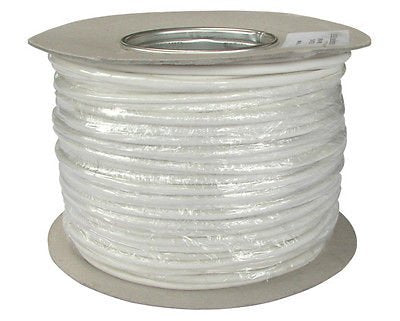 CW1308 Telephone Cable, 2 Pair Internal Telephone Wire, 4 Core CW1308 Cable - White (5m)