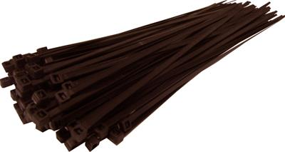 Brown Cable Ties, 4.8mm x 300mm Pack of 100
