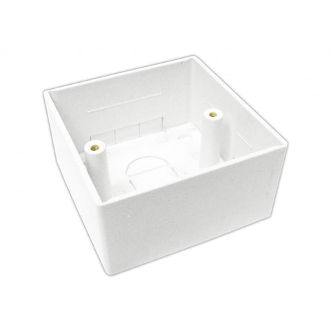 45mm Single Gang Surface Mount Back box - 45mm Deep Single Back Box - White