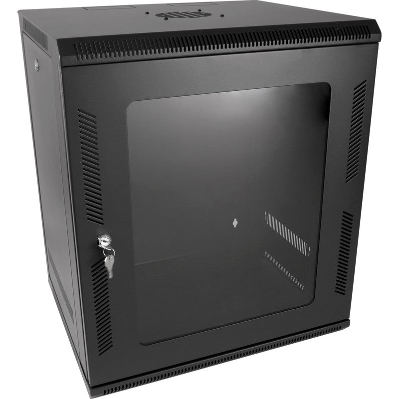 "Wall Data Cabinet 15U 19"" – 450mm deep DVR/NVR Rack 19 inch - Data Cab"