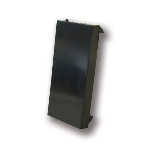 Faceplate Blank 25x50mm Euromodule - Black