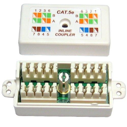 CAT 5E Punchdown/Krone Coupler/Joiner - White