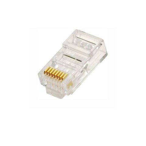 CAT6 RJ45 Modular Plug (pack of 100) 8P8C -Solid or Stranded Cable 50 Micron