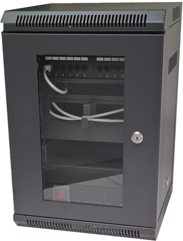 "10"" Rack Mount 8U SOHO Wall Cabinet - 10 Inch SOHO Data Cabinet"