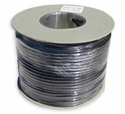 100m Twin Black Aerial/Satellite Cable 65