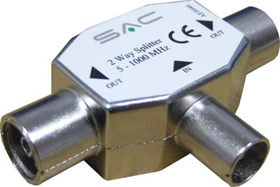 Metal 2 Way TV Splitter IEC