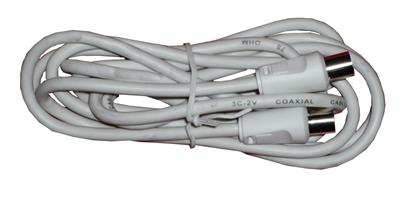 Tv Aerial Cable, Male To Female 1.5m White