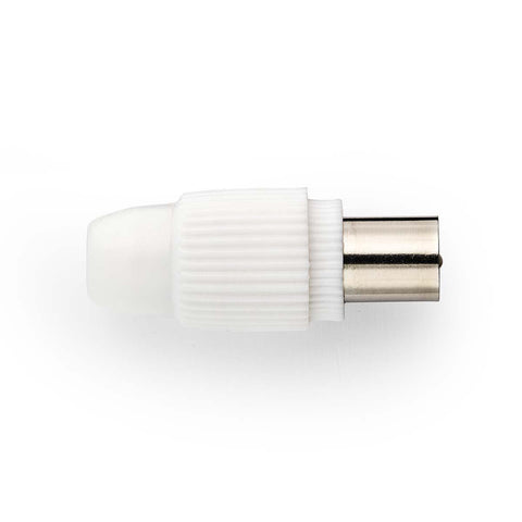Coax Aerial Plug Male - White