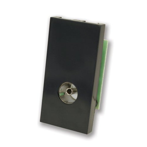 Isolated TV Female Co-Ax Module Euromodule - Black