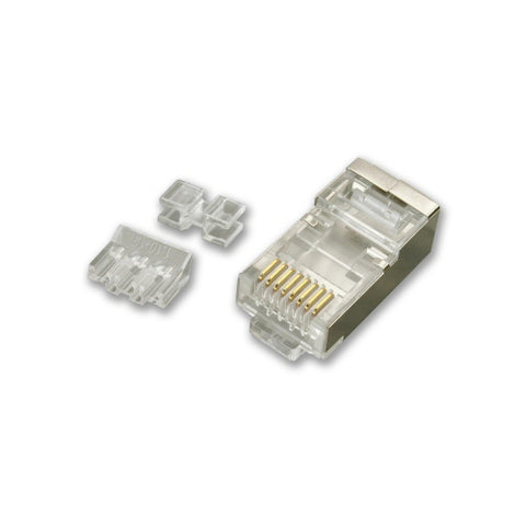 CAT5E/CAT6/CAT6A Shielded RJ45 Plug (pack of 10) - LJC6A101-10