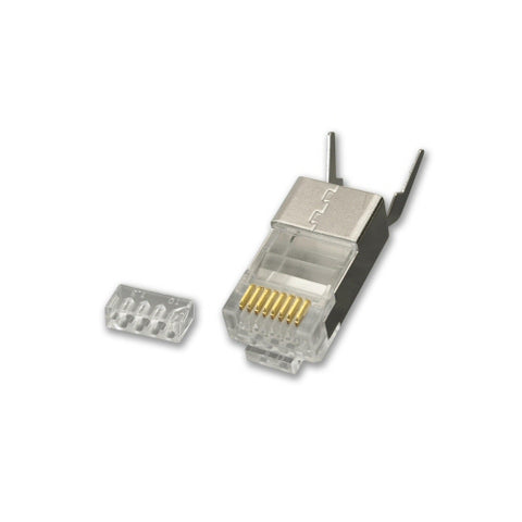 CAT6A/CAT7/CAT8 Shielded RJ45 Plug (pack of 10) - LJC6A130-10