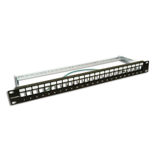 Cat6a Unpopulated 24 Port 19 Inch Patch Panel PPC24U6A