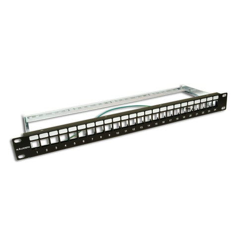 Cat6a Populated 24 Port 19 Inch Patch Panel 24 Cat6a Keystone Jacks Included