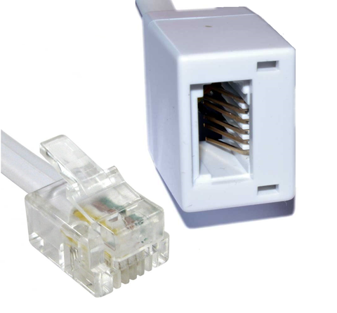 RJ11 Male To BT Female Extension Leads 2m to 20m Lengths