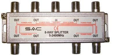 Satellite/Aerial Splitter 8 Way Indoor Splitter (5-2400MHz)