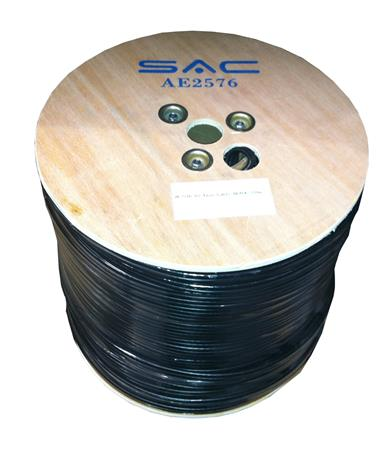250m Twin Black Aerial/Satellite Cable 65