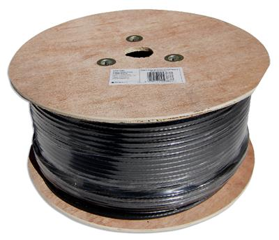 250m Black Aerial/Satellite Cable RG6