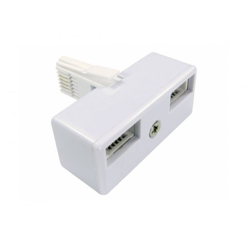 BT Telephone 2 Way Double Adaptor Splitter FAX / Modem - One BT (M) to Two BT (F) Adapter