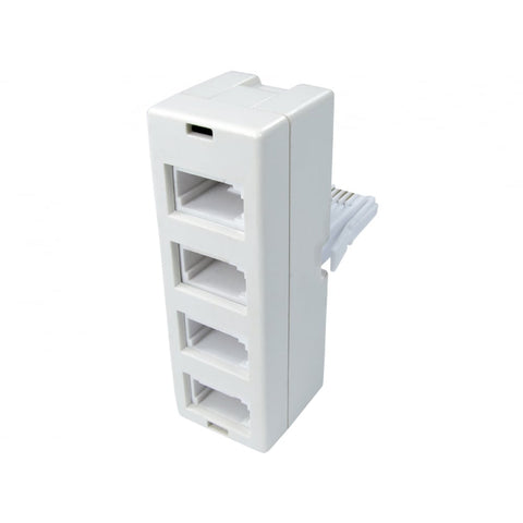 BT 4 Way Telephone Splitter Adapter 4 Port