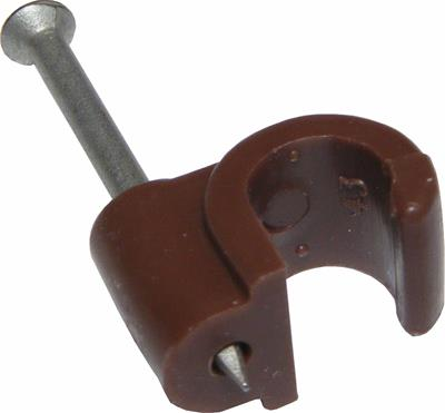 7mm RG6/100 Brown Clips x100