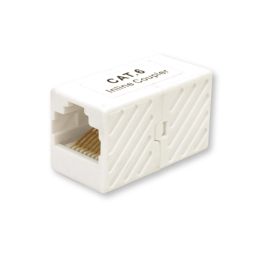RJ45 CAT6 Cord Coupler White for Connection of two Ethernet RJ45 cables US201