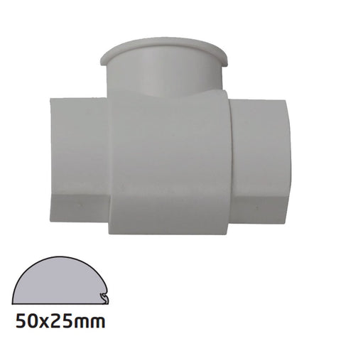 D-Line 50x25 Aluminium Box Adapter Tee  (Clearance)