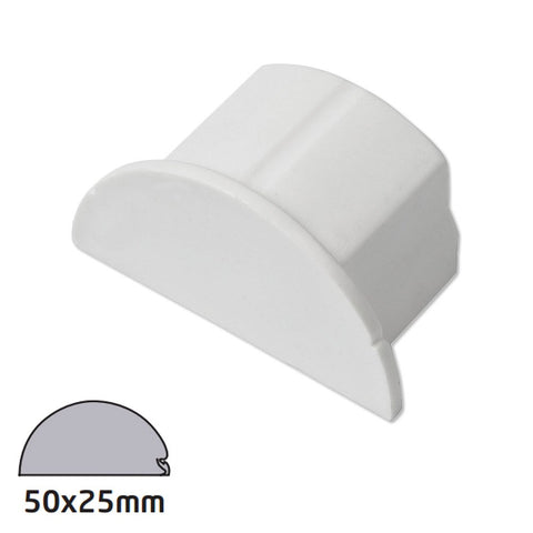 D-Line 50x25 White End Cap (Clearance)