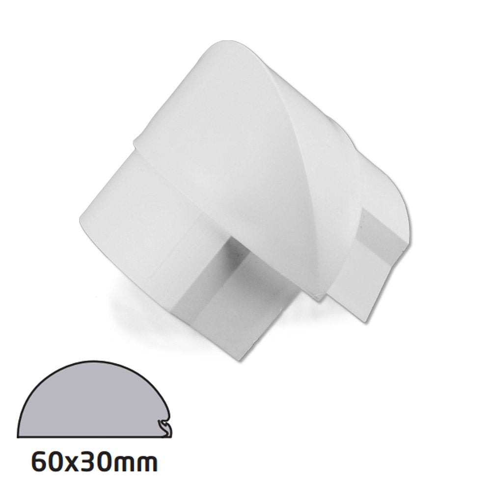 D-Line 60x30 White External Bend Smooth Fit (Clearance)