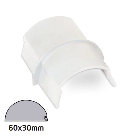D-Line 60x30 White Coupler Smooth Fit (Clearance)