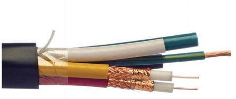 5 Core Coax Cable Plus Earth - 50m and 100m Lenghts