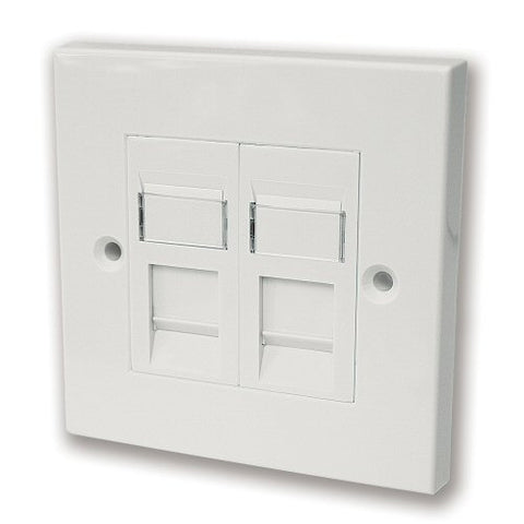 CAT5e RJ45 Twin Faceplate