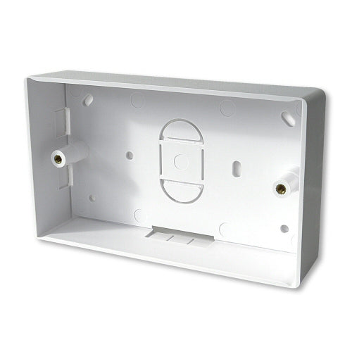 32mm Double Gang Surface Mount Backbox - 32mm Deep Double Back Box