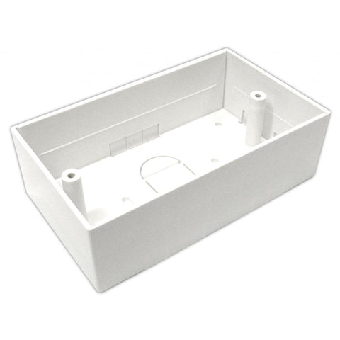 45mm Double Gang Surface Mount Back box - 45mm Deep Single Back Box - White