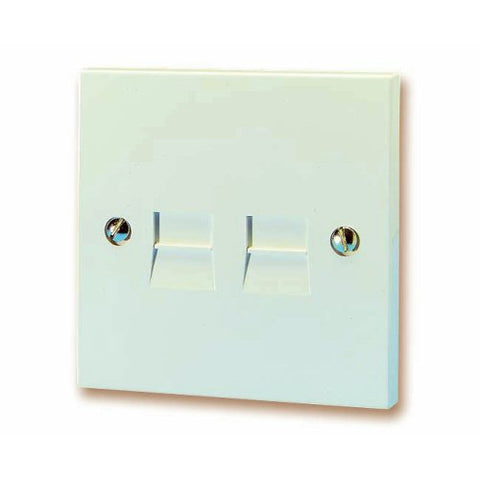 BT LJU4/3A Twin Telephone Extension Socket – Flush Mounting