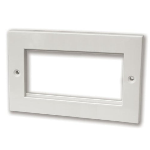 Quad Module Faceplate, Faceplate with 50x100mm aperture