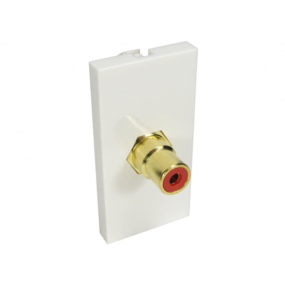 Single RCA Module (Red) Euromodule - White