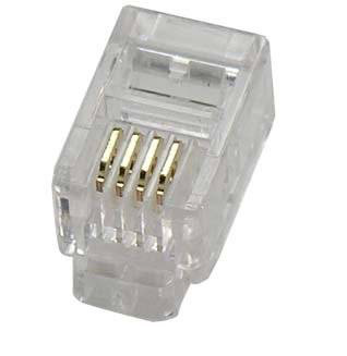 RJ10 4 position/4 contact FCC plug (pack of 10) - 4 Way 4 Wire