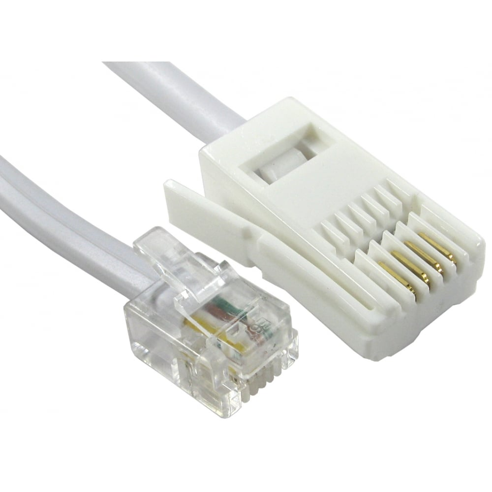 BT to RJ11 Line Cords, BT to RJ11 Cables 2m-10m Lengths