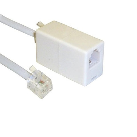 RJ11 Male to RJ11 Female Extension Leads 1m to 30m Lengths