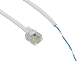 RJ11 to BT open end cable, for Routers to BT telephone sockets. With Punch tool. 1m - 20m Lengths