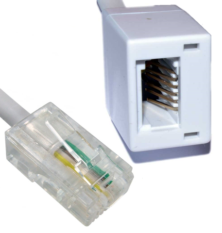 RJ45 Male To BT Female Extension Leads 2m to 20m Lengths
