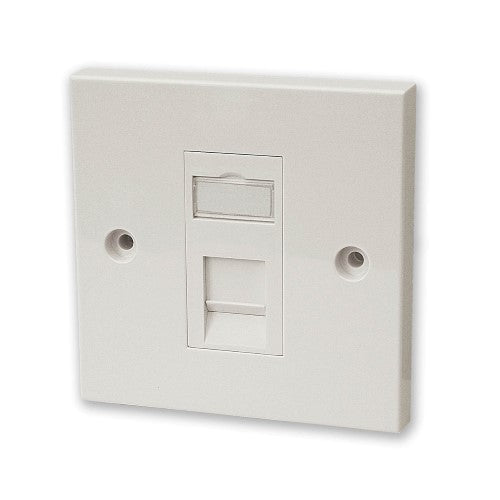CAT5e RJ45 Single Faceplate